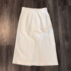 Zara White A-Line Midi Skirt